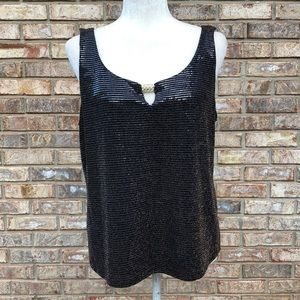 Leslie Fay Jackets & Coats - Leslie Fay black metallic shiny top & jacket, XL